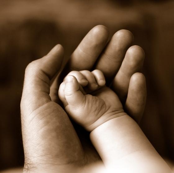 Sepia Baby Hands